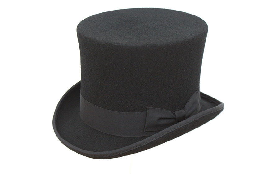 lincoln hat. lincoln wool top hat 6u2033 tall
