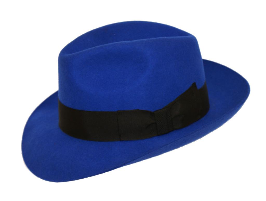 Straw Fedora // Black + Grey + Light Blue - Karako - Touch ...  |Blue Black Band Fedora