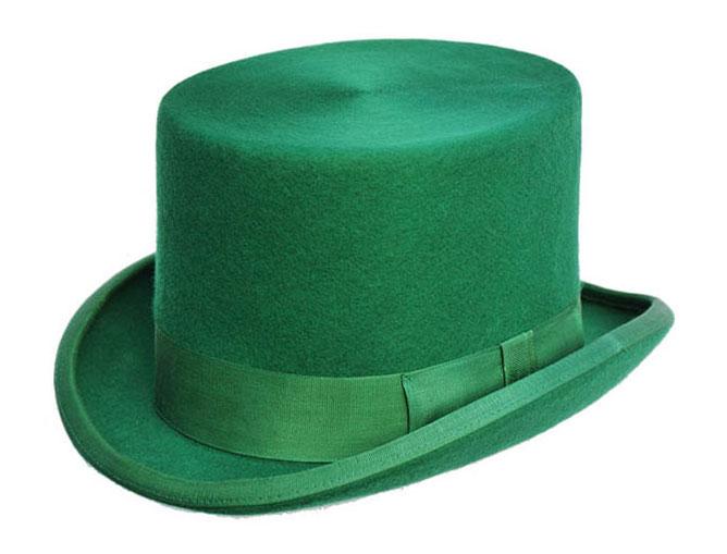 Emerald Green Wool Top Hat - Denton Hats 5d2ad6f4c6e