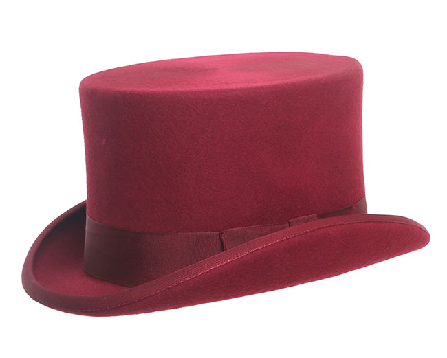 Denton Hats Wool Felt Top Hat Black