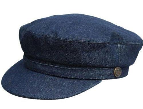 Black Cord Barge Cap Denton Hats