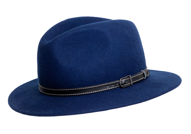 2866e024a5f Midnight Blue Wool Felt Montana Crushable Hat - Denton Hats