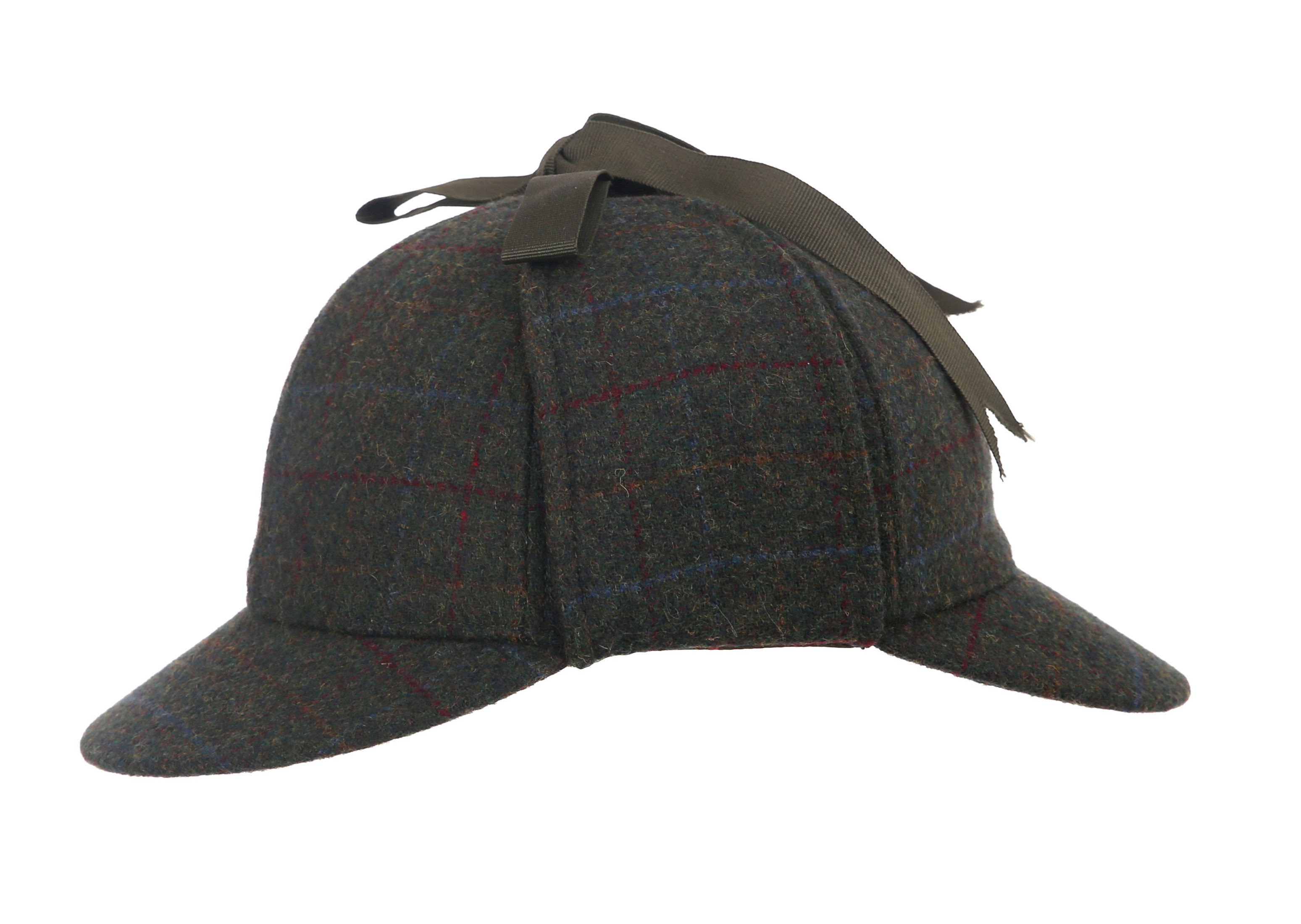 Green//Red Denton Hats Sherlock Deerstalker Hat